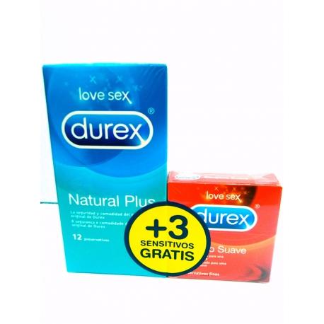 Durex Natural Plus 12U+3 Sensitivo Suave